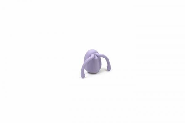 Eva Hands-Free Silicone Rechargeable Couples Vibrator lavender 3