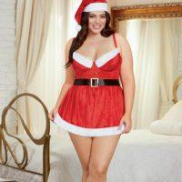 holiday-stretch-velvet-chemise-santa-hat-red-plus-1