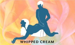 Liberator Bonbon Sex Toy Mount being used for the Whipped Cream sex position